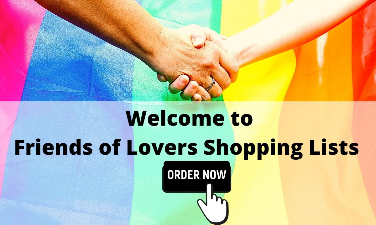 Friends of Lovers Shopping List